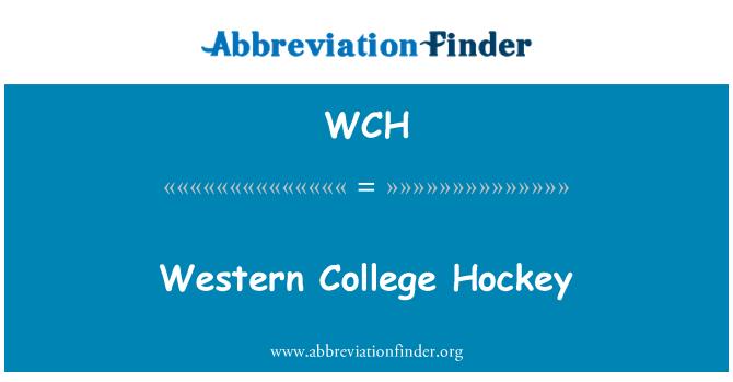 WCH: Western College Hockey