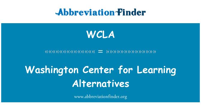 WCLA: Centro de Washington para aprender alternativas