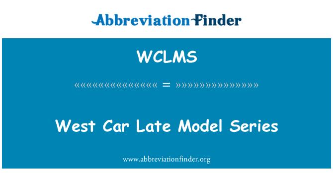 WCLMS: West Car Late Model Series