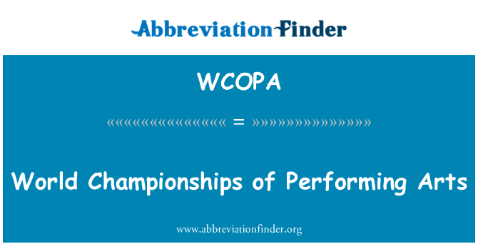 WCOPA: World Championships of Performing Arts