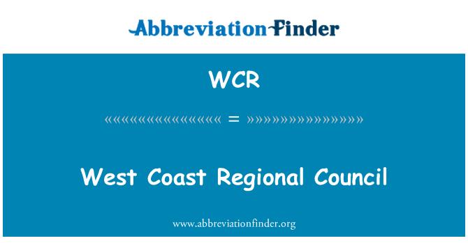 WCR: West Coast Regional Council