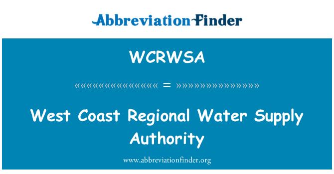 WCRWSA: West Coast Regional Water Supply Authority