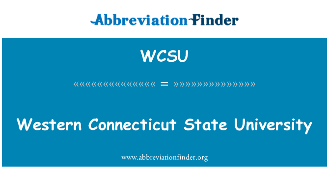 WCSU: Western Connecticut State University