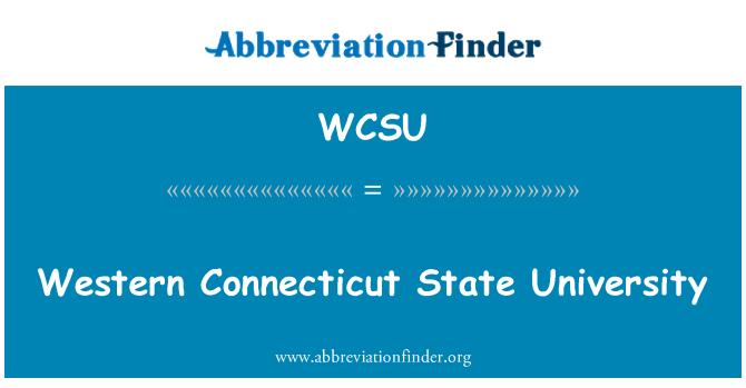 WCSU: Western Connecticut State University