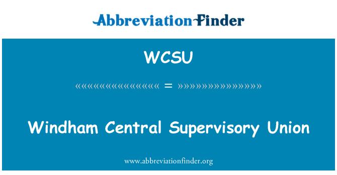WCSU: Windham centrale tilsyns Union