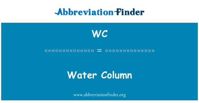 WC: Water Column
