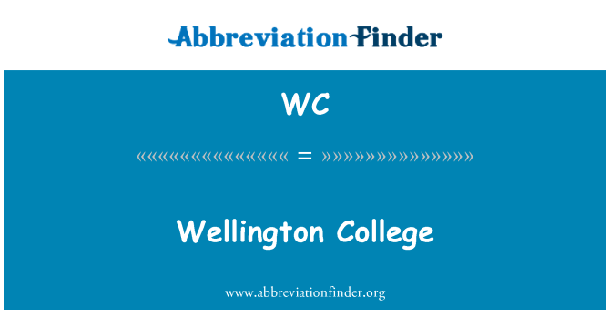 WC: Wellington College