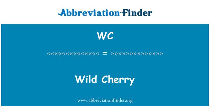 WC: Wild Cherry