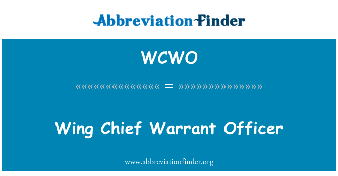 WCWO: Wing Chief Warrant Officer