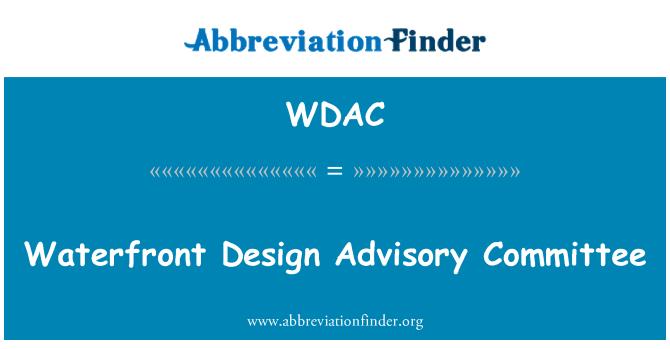 WDAC: Comité Asesor de diseño frente al mar