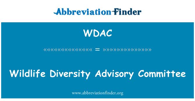 WDAC: Comité Consultivo de la diversidad de vida silvestre