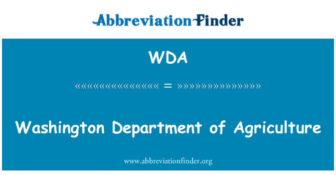 WDA: Washington Department of Agriculture