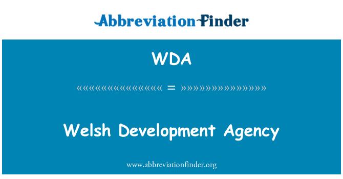 WDA: Welsh Development Agency