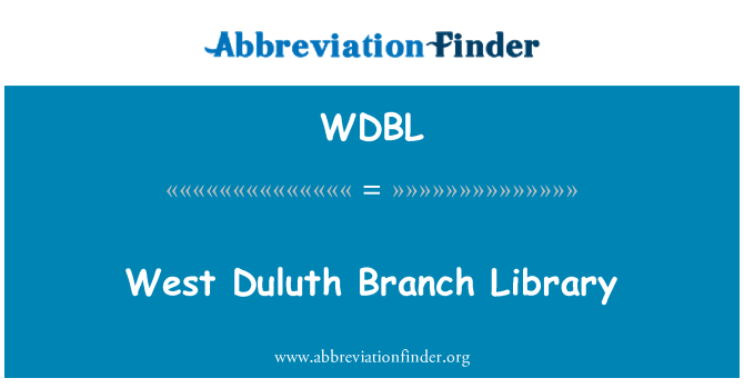 WDBL: West Duluth Branch Library
