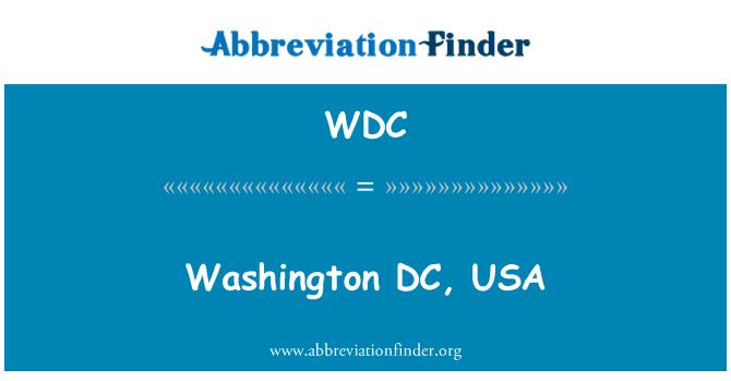 WDC: Washington DC, USA