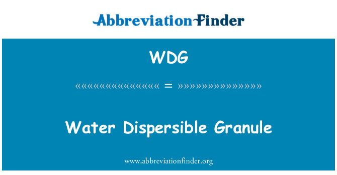 WDG: Water Dispersible Granule