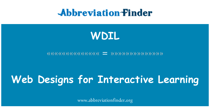 WDIL: Web Designs for Interactive Learning