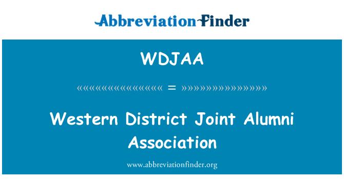 WDJAA: Western District Joint Alumni Association