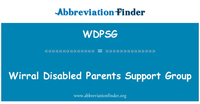 WDPSG: Wirral Disabled Parents Support Group