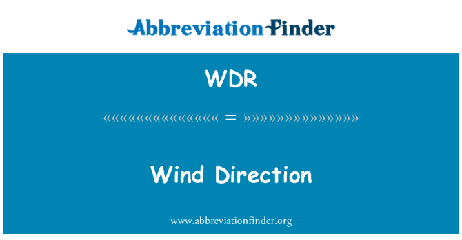 WDR: Wind Direction