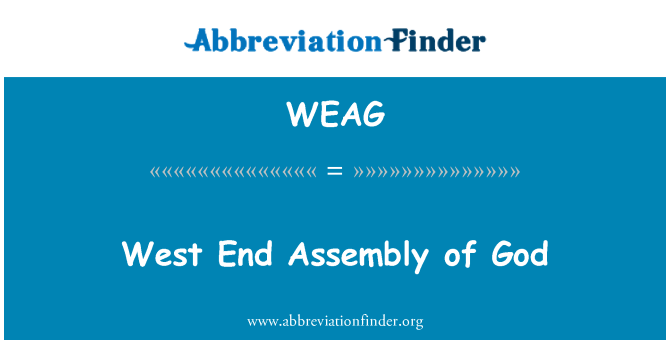 WEAG: West End Assembly of God