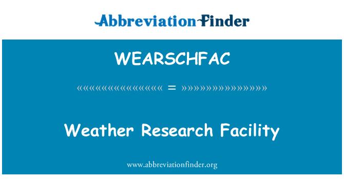 WEARSCHFAC: Struttura di ricerca Meteo