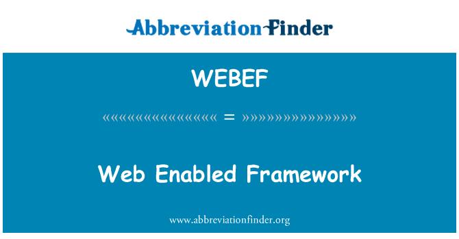 WEBEF: 启用 web 框架