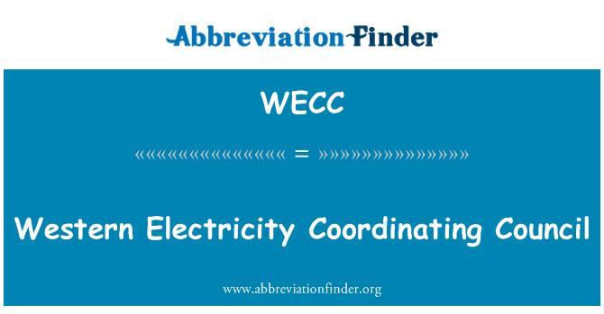 WECC: Batı elektrik koordinasyon Konseyi