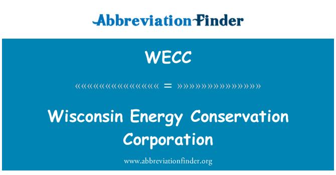 WECC: Wisconsin enerji tasarrufu Corporation