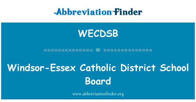 WECDSB: Windsor-Essex Catholic District School Board