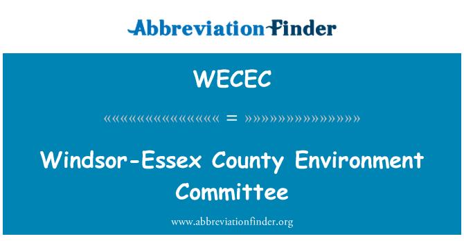 WECEC: Windsor-Essex County Environment Committee