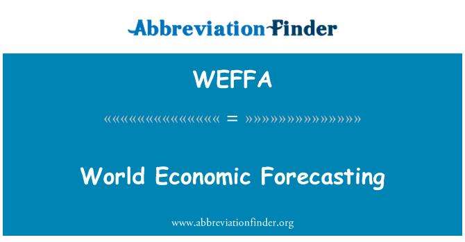 WEFFA: World Economic Forecasting