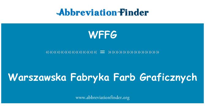 WFFG: Warszawska Fabryka Farb Graficznych