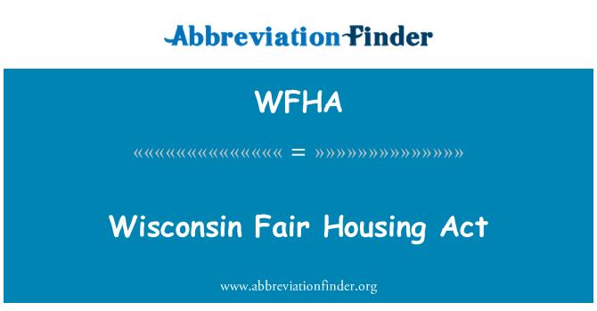 WFHA: Wisconsin õiglase elamumajanduse seaduse