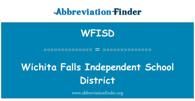 WFISD: Wichita Falls Independent School District