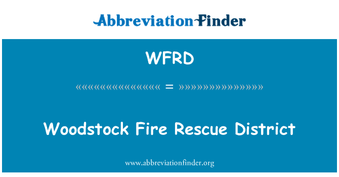 WFRD: Woodstock Fire Rescue District