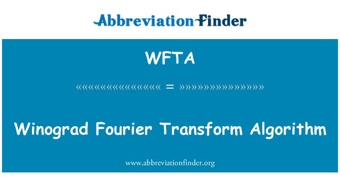 WFTA: Winograd Fourier Transform algoritması