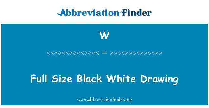 W: Saiz penuh lukisan hitam putih