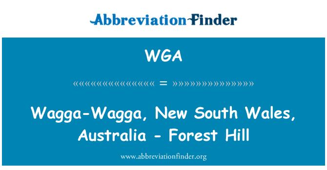 WGA: Wagga-Wagga, New South Wales, Australia - Forest Hill