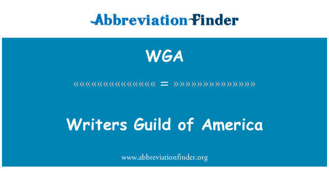 WGA: Writers Guild of America