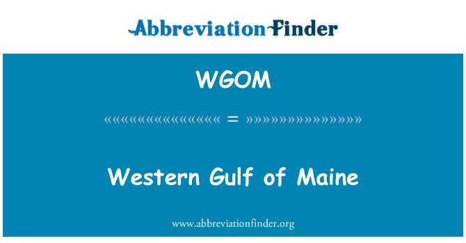 WGOM: Western Gulf of Maine