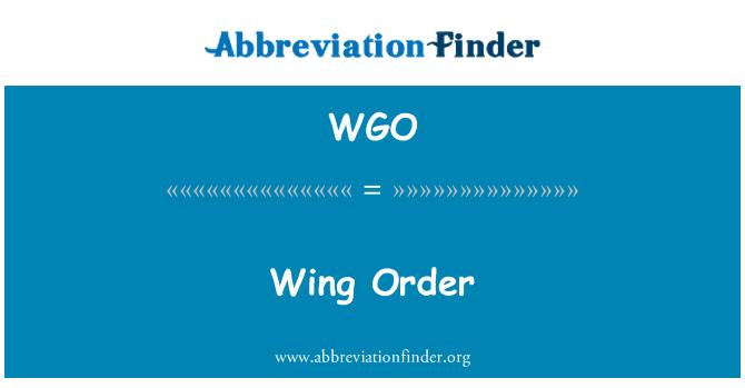 WGO: Wing Order