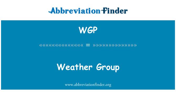 WGP: Weather Group