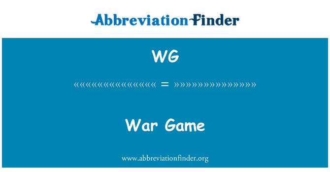 WG: War Game