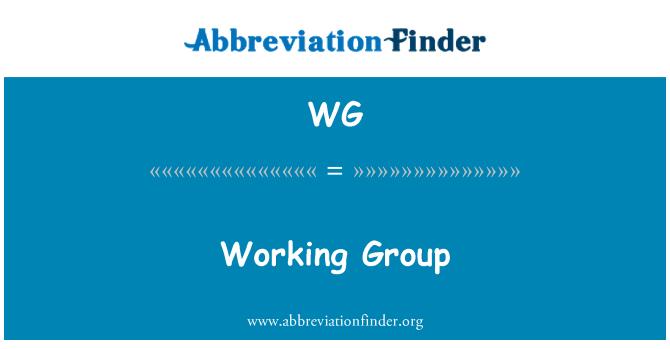 WG: Working Group