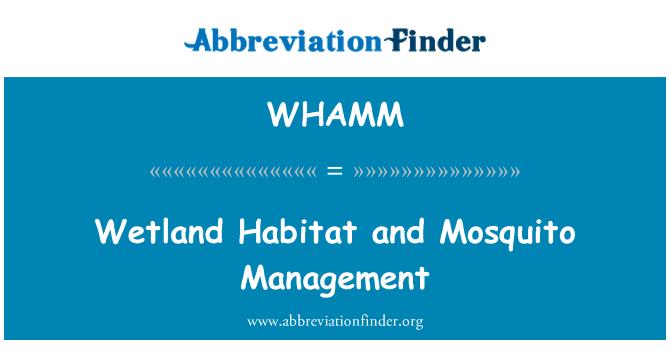 WHAMM: Wetland Habitat and Mosquito Management