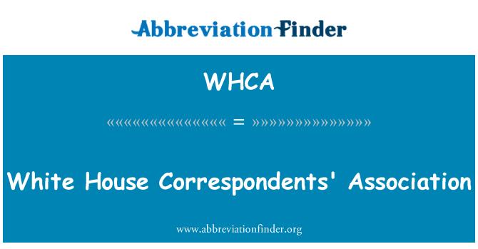 WHCA: Beyaz Saray Muhabirleri Derneği