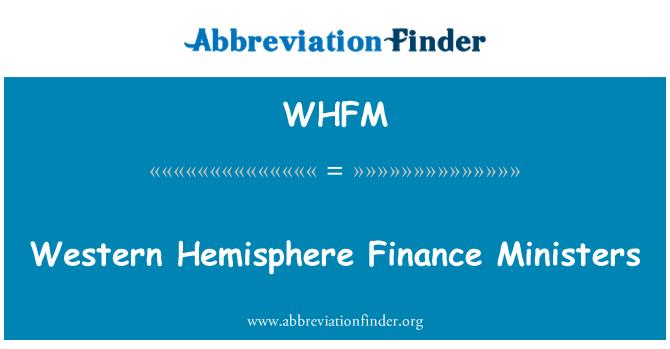 WHFM: Western Hemisphere Finance Ministers