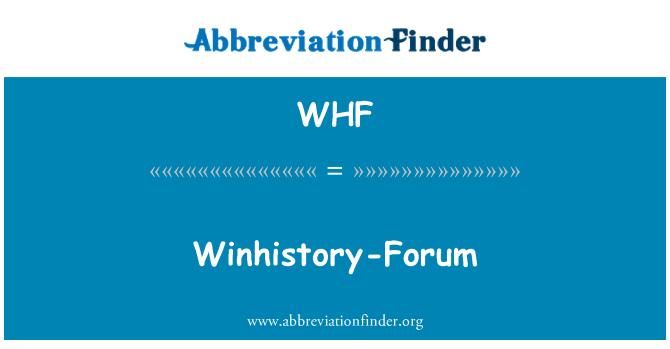 WHF: Winhistory-Forum