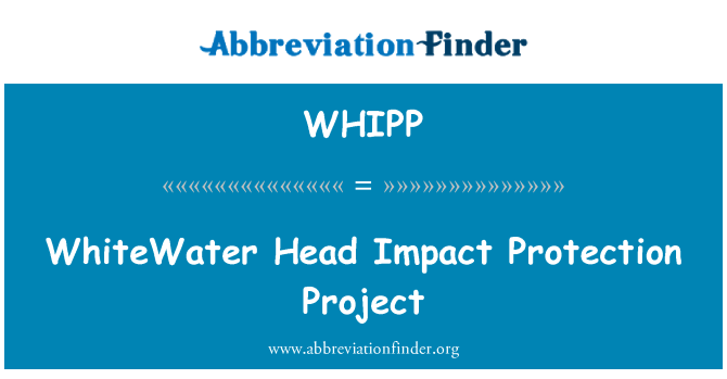 WHIPP: WhiteWater Head Impact Protection Project